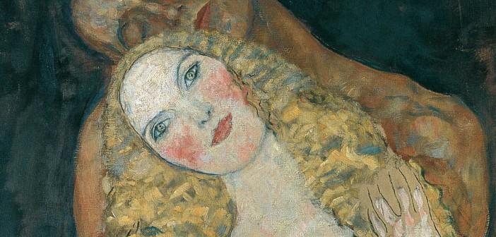 Klimt Adamo ed Eva particolare