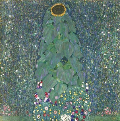Girasole, 1907. Olio e pittura d'oro su tela, cm 110 x 110 Vienna, Belvedere