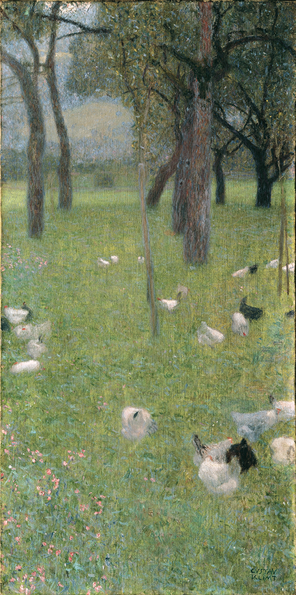 Dopo la pioggia, 1898. Olio su tela, cm 80 x 40 - Vienna, Belvedere