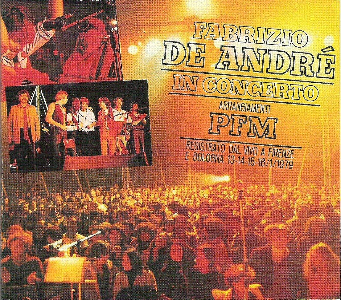 Fabrizio De André in concerto (copertina 33 giri)