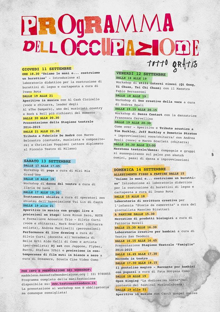 Occupy San Teodoro WS A4 Colore