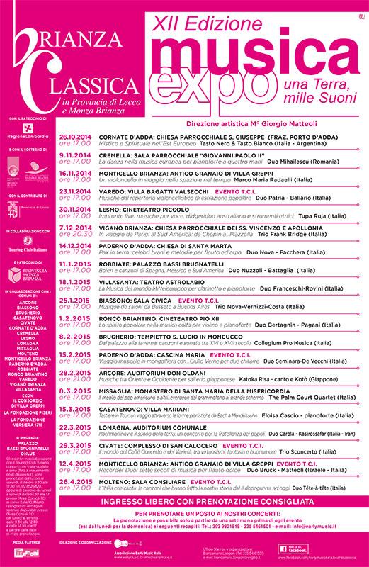Programma Brianza Classica - XII edizione