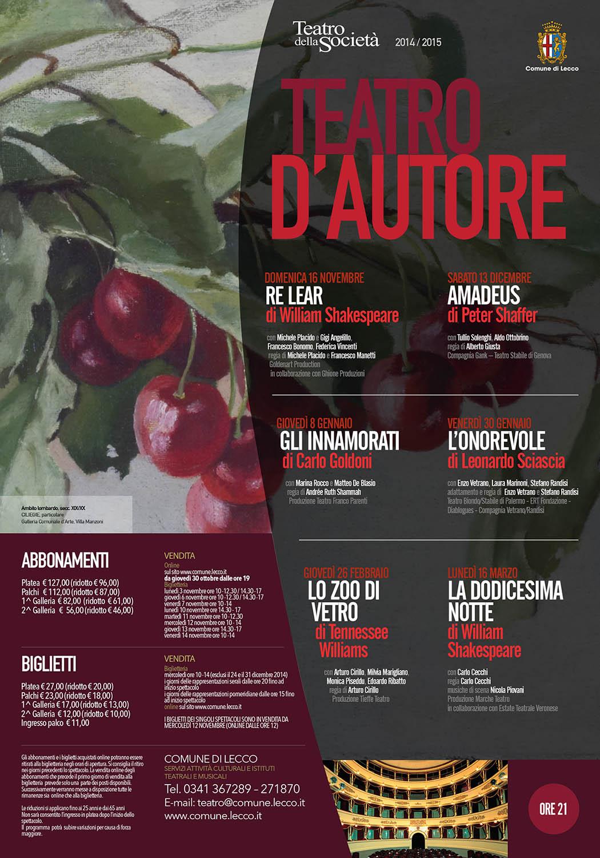 locandina 2014 TEATRO D'AUTORE ROSSO