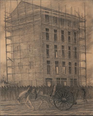 Boccioni, Casa in costruzione