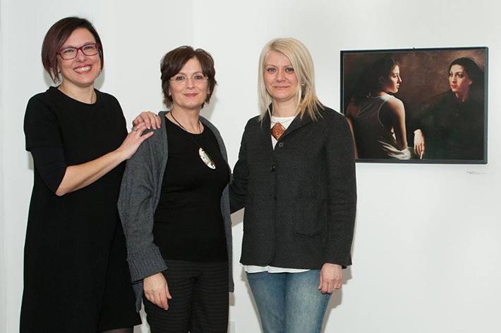 Simona Bartolena, Piera Biffi e Sabina Melesi. Sullo sfondo il dialogo con Carla Maria Maggi