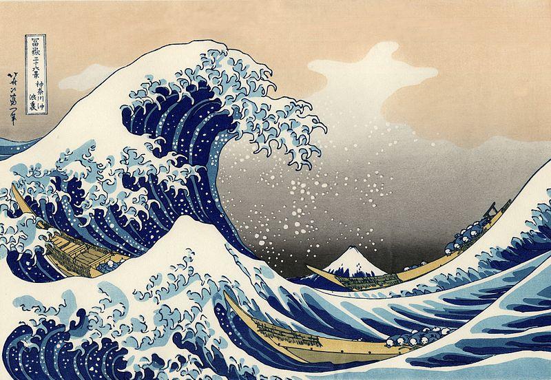 Hokusai, La grande onda