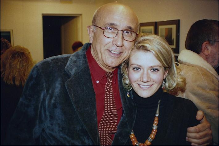 Sabina Melesi con Franco Fontana