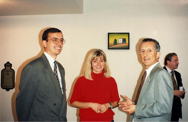 Giulio Boscagli, Sabina Melesi e Tino Stefanoni durante l'inaugurazione del '91