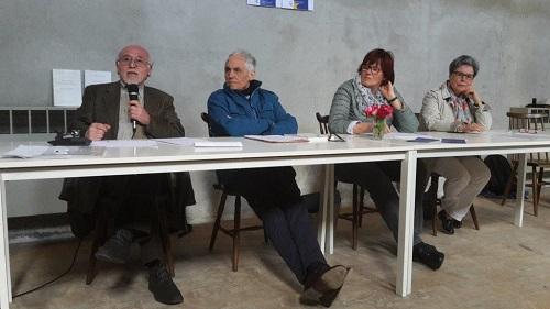 Da sinistra: Giuseppe Leone, Dieter Rügge, Jutta Huntemann-Hintze, Rita Marcon