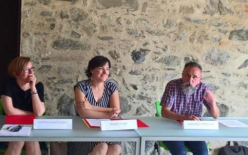 Da sx: Simona Bartolena, Marta Comi, Armando Fettolini
