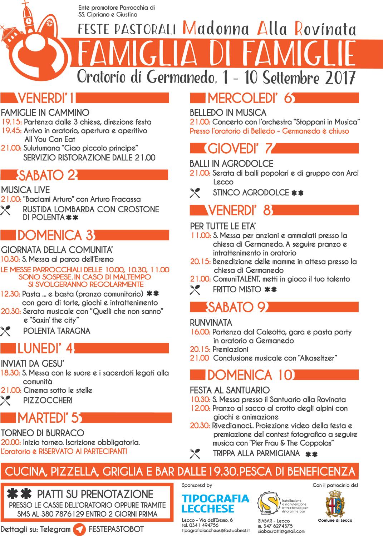 Programma feste 17